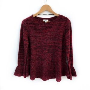 Style & Co Red / Back Knit Crew Neck Sweater